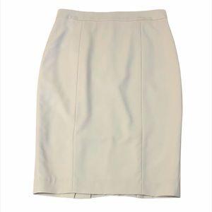 Pink Tartan Cream Midi Career Skirt